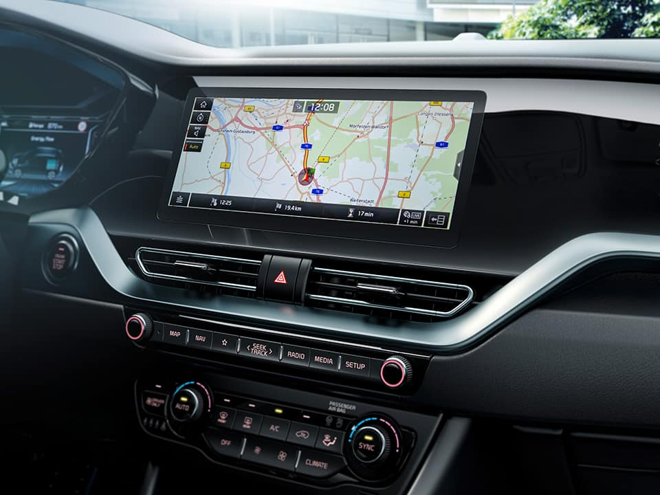"Kia Niro navigation system 10.25"" touch screen"